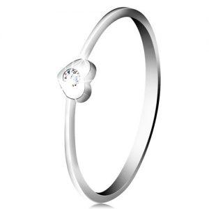 Diamantový prsteň z bieleho 14K zlata - srdiečko s čírym briliantom BT502.57/63 - zasnubne prstene -  zásnuby prsten -  zasnubný prsteň -  zásnuby prsteň -  diamantovy prsten -  zásnubný prsteň -  diamantový prsteň -  zasnubne prstene biele zlato -  zasnubny prsten biele zlato -  zasnubne prstene s diamantom -  zasnubny prsten s diamantom -  zasnubne prstene z bieleho zlata -  na ktorej ruke sa nosí zásnubný prsteň -  zasnubny prsten na ktorej ruke -  kde sa nosi zasnubny prsten -  zlaty zasnubny prsten -  snubny prsten biele zlato -  diamantovy zasnubny prsten -  snubny prsten cena -  zasnubne prstene diamant -  zasnubny prsten s briliantom -  zásnubné prstene s briliantom -  zasnubny prsten ruzove zlato -  platinovy zasnubny prsten -  zásnubný prsteň s briliantom -  zásnubný prsteň s diamantom -  snubny prsten s diamantom -  na ktorý prst sa dáva zásnubný prsteň -  zasnubny prsten na ruke